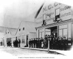 People in front of the Northern Commercial Company store, Fairbanks, ca. 1912