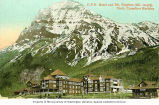 Canadian Pacific Railroad Hotel and Mount Stephen, Field, British Columbia, ca. 1908