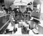 Exhibits inside the California State Building, Lewis and Clark Exposition, Portland, Oregon, 1905