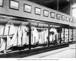 Models of fishing boats in the Government Building at the Lewis and Clark Exposition, Portland,...