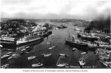 Steamships and boats in the harbor at Victoria, British Columbia, ca. 1920