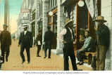 Chinese men on the street in Chinatown, Vancouver, British Columbia, ca. 1910
