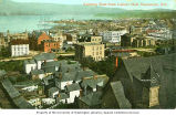 Panorama looking east from the Labor Hall showing harbor and ships in Vancouver, British Columbia,...