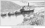 Towing Supplies Up the Yukon River, 1897