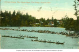 War Canoe Race at The Gorge, Victoria, British Columbia, ca. 1910