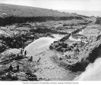 Hydraulic mining operation, Daniels Creek, Alaska, ca. 1907