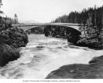 Chittenden Bridge over the Yellowstone River, Yellowstone National Park, ca. 1889