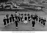 51st Naval Construction Battalion (NCB) Band at Captain's Bay, Dutch Harbor, 1943