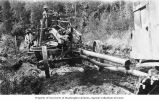 J. D. Adams & Company Leaning Wheel Road Grader on the Richardson Highway near Valdez, Alaska,...