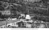 Bridge over the Tsaina River being dismantled for relocation, mile 47.5 of Richardson Highway,...