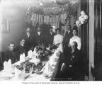 Bridal party at the White House in Dawson, Yukon Territory, Oct. 3, 1906.