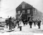 North American Trading and Transportation Company's band parading in downtown Dawson, Yukon...