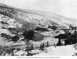 Claim No. 27 along Eldorado Creek showing mining dumps near Dawson, Yukon Territory, circa 1900
