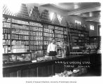 Alaska Gastineau Mining Company's store, with tin ceiling and canned goods stacked on shelves,...
