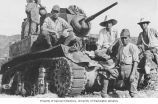 Japanese soldiers with tank, Attu Island, ca. 1943