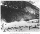 Miners and hydraulic mining operation, location unknown, n.d.