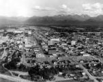 Aerial view of downtown Anchorage, ca. 1964-1975