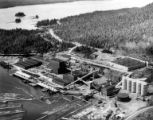Aerial view of Ketchikan Pulp Company mill, Ketchikan, ca. 1954-1970's