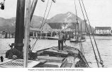 Fishing boat returning with load of fish, location unknown, ca. 1911