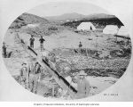 Mining operation showing sluice, Anvil City, vicinity of Nome, ca. 1906