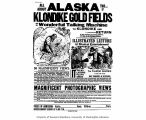 Advertisement for a lecture and musical entertainment featuring magic lantern slides of Alaska and...