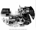 4th of July celebration on Front Street, Nome, ca. 1906