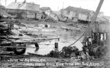 Looking across the Snake River to the sandspit after a big storm, Nome, Alaska, October 1913