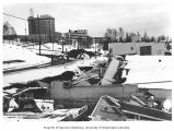 Earthquake damage in the area between 3rd and 4th Ave., Anchorage, 1964