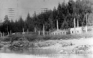 Deserted Haida village, Kasaan, Port of Wales Island, Alaska, ca. 1915.