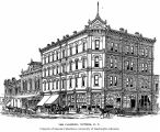 Architect's drawing of the Clarence Hotel, Victoria, ca. 1885