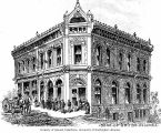 Architect's drawing of the Bank of British Columbia building, Victoria, ca. 1885