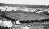 Baseball game near tent city, Anchorage, Alaska, July 4, 1915