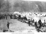 Klondikers selling their supplies along the waterfront, Dawson, ca. 1899