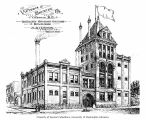 Architect's drawing of the Victoria Brewing Company building, ca. 1899