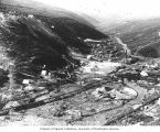 Panoramic view of mining operations, Adams Hill, ca. 1897