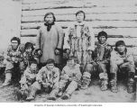 Eskimo men and boys, western Alaska, ca. 1886