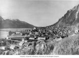 Panorama of Juneau with courthouse visible on hill in background, n.d.