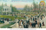 Rainier Vista showing the gardens and the Music Pavilion, Alaska-Yukon-Pacific-Exposition,...