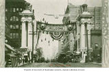 Welcome Arch for the Alaska Yukon Pacific Exposition on 2nd Ave. and Marion St., Seattle, 1909