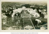 Bird's-eye view of the Arctic Circle and Court of Honor, Alaska-Yukon-Pacific Exposition, Seattle,...