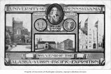 University of Pennsylvania souvenir postcard, Alaska-Yukon-Pacific Exposition, Seattle,...