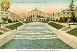 Cascades and U.S. Government Building, Alaska-Yukon-Pacific Exposition, Seattle, Washington, 1909