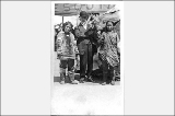 Dr. Frederick W. Seward posed with two Eskimo women and child, Pay Streak, Alaska Yukon Pacific...