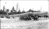 Exhibition artillery drill, military athletic tournament, Alaska Yukon Pacific Exposition,...