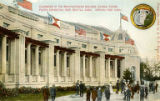 Colonnades of the Manufacturers Building, Alaska-Yukon-Pacific Exposition, Seattle, Washington,...