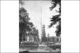 Sons of the American Revolution Flagpole installation, Alaska Yukon Pacific Exposition, Seattle,...
