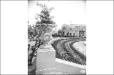 Urn located by Geyser Basin and Manufactures Building, Alaska Yukon Pacific Exposition, Seattle,...