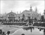 European Building with Agriculture Building (left), Alaska Yukon Pacific Exposition, Seattle, 1909.
