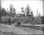 Fire Station construction , Alaska-Yukon-Pacific Exposition, Seattle, Washington, 1908