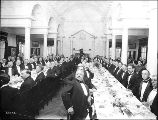 California banquet, held inside the New York Building, Alaska Yukon Pacific Exposition, Seattle,...